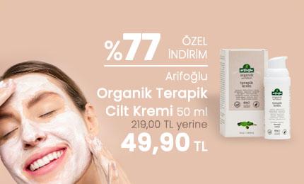 Arifoğlu Organik Terapik Cilt Kremi 50 ml - %77 İNDİRİM - 49,90 TL