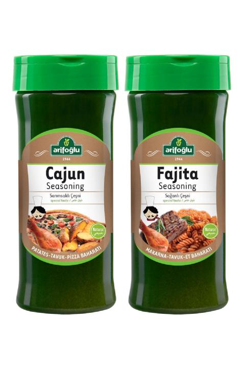 Arifoğlu Cajun Seasoning Pet 230gr + Fajita Seasoning Pet 230gr 2'li Set