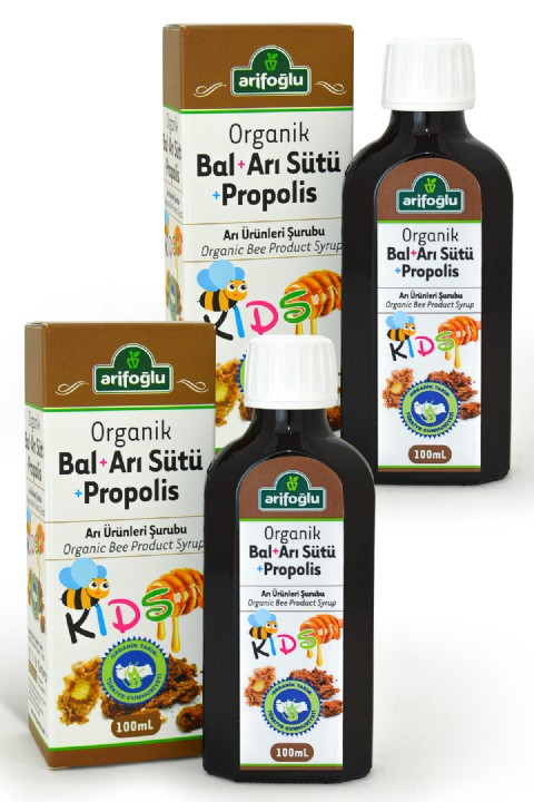 Arifoğlu Organik Bal Arı Sütü Propolis For Kids 100 ml 2'li Set